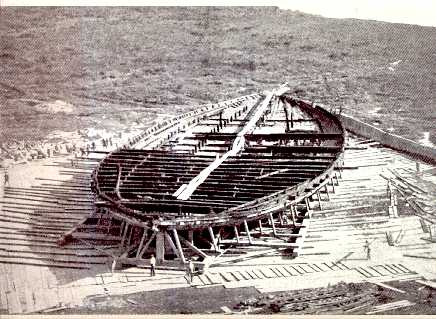 Ship discovered at Nemi in 1930